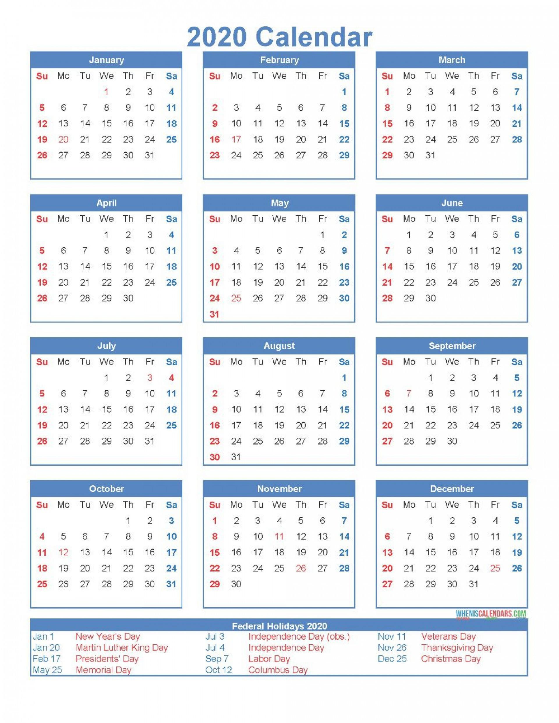12 Month Calendar Template ~ Addictionary  12-Month Calendar Template