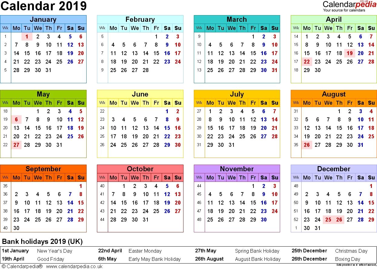 12 Months To View Monthly Calendar | Calendar Template  12 Month Printable Calendar Template
