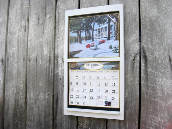 13.5 X 24 Wood Calendar Holder Woodensugarshackshoppe  Calendar Frames And Holders
