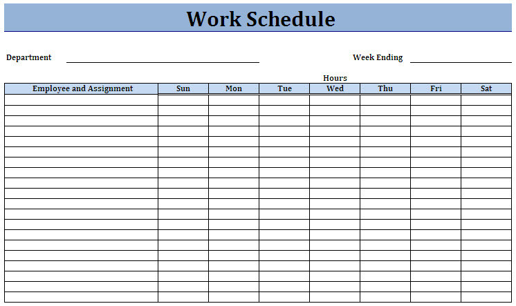 18 Blank Weekly Employee Schedule Template Images - Blank  Blank Daily Schedule