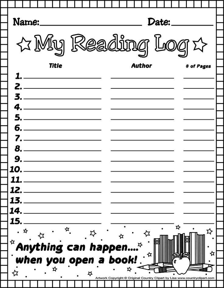 1St Grade Reading Log Forms |  Elementary: Latest News  Blank Assignment Sheet 1St Grade