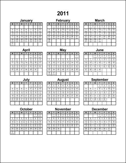 2011 Julian Calendar Pdf  Military Julian Date