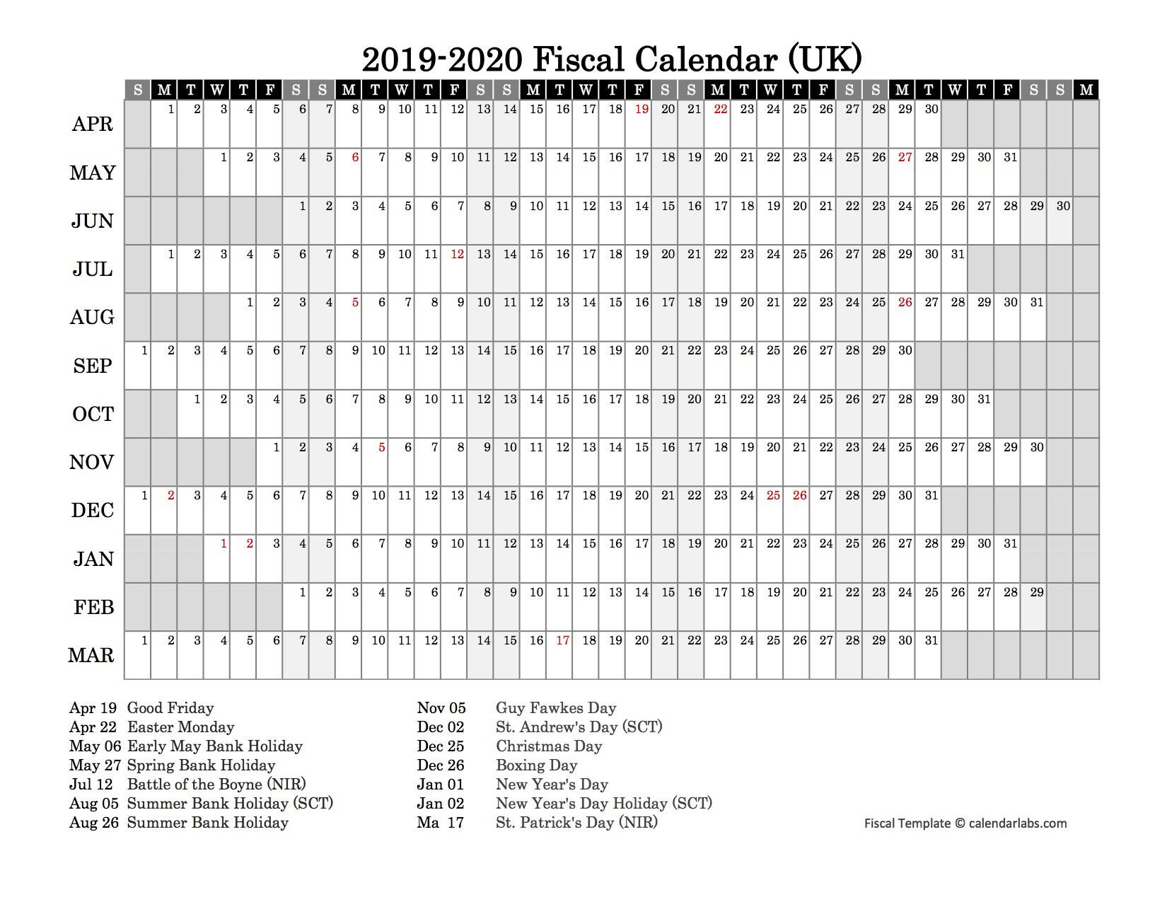2019 Fiscal Year Calendar - Free Printable Templates  Fiscal Year Autralia