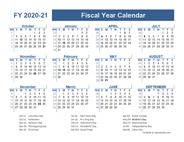 2020-2021 Fiscal Planner Us - Free Printable Templates  Fiscal Year Autralia