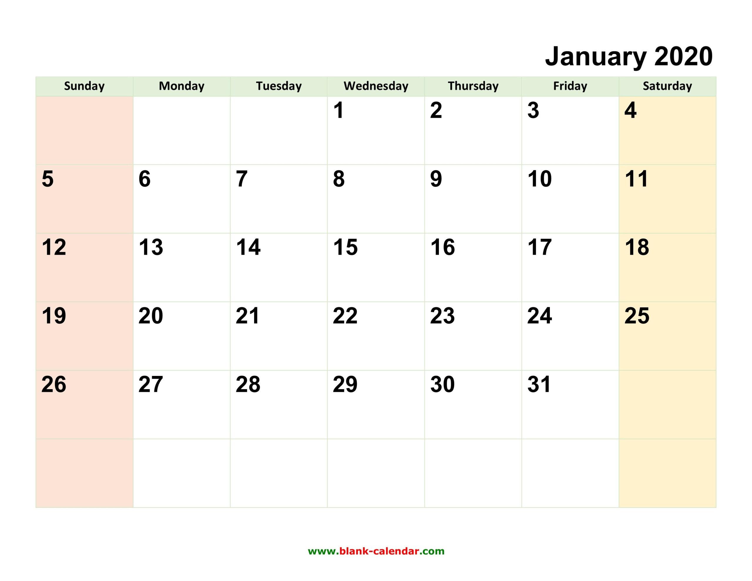 2020 Fillable Calendar Template | Calendar Template Printable  Editable Monthly Calendar Printable