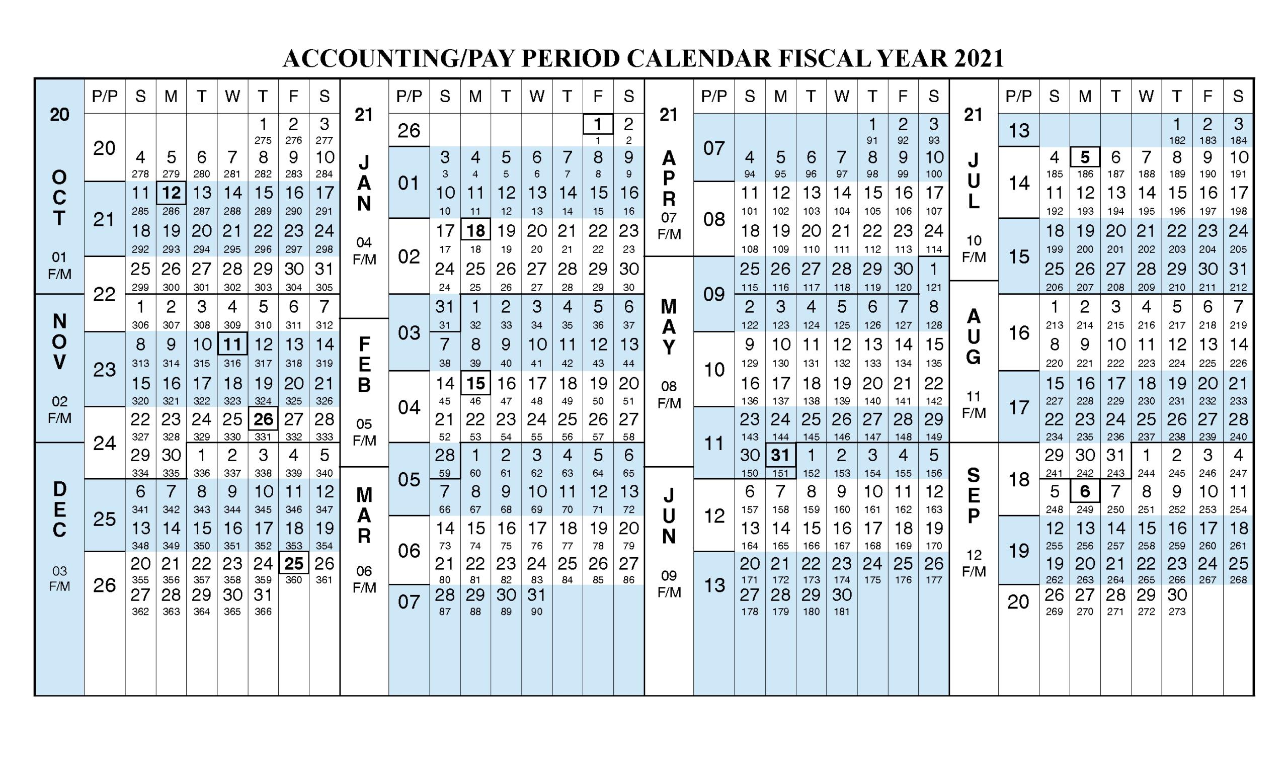 2020 Pay Period Calendar - Template Calendar Design  2021 Fiscal Year Julian Calendar