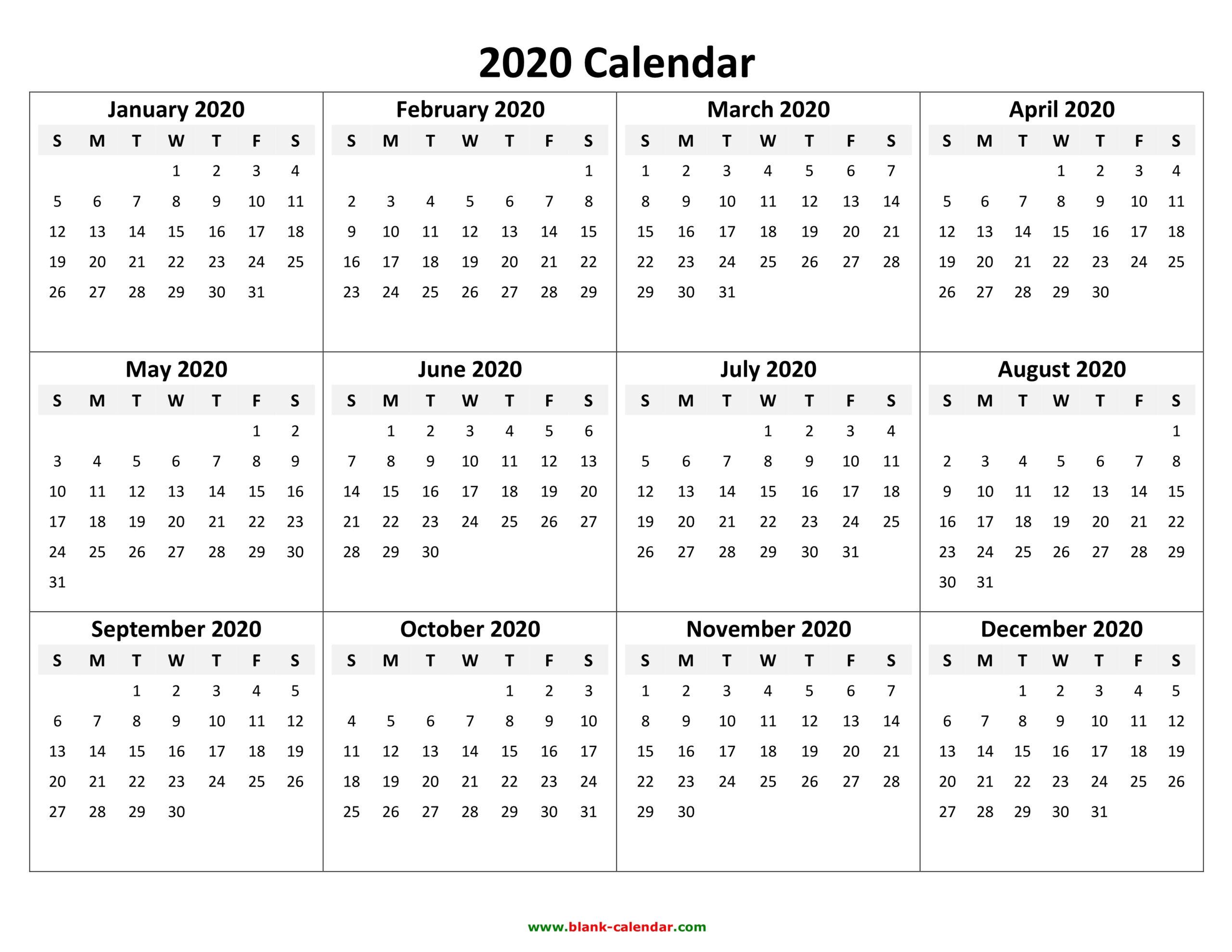 2020 Printable Calendar Yearly | Qualads  November 2021 Fill In Calendar