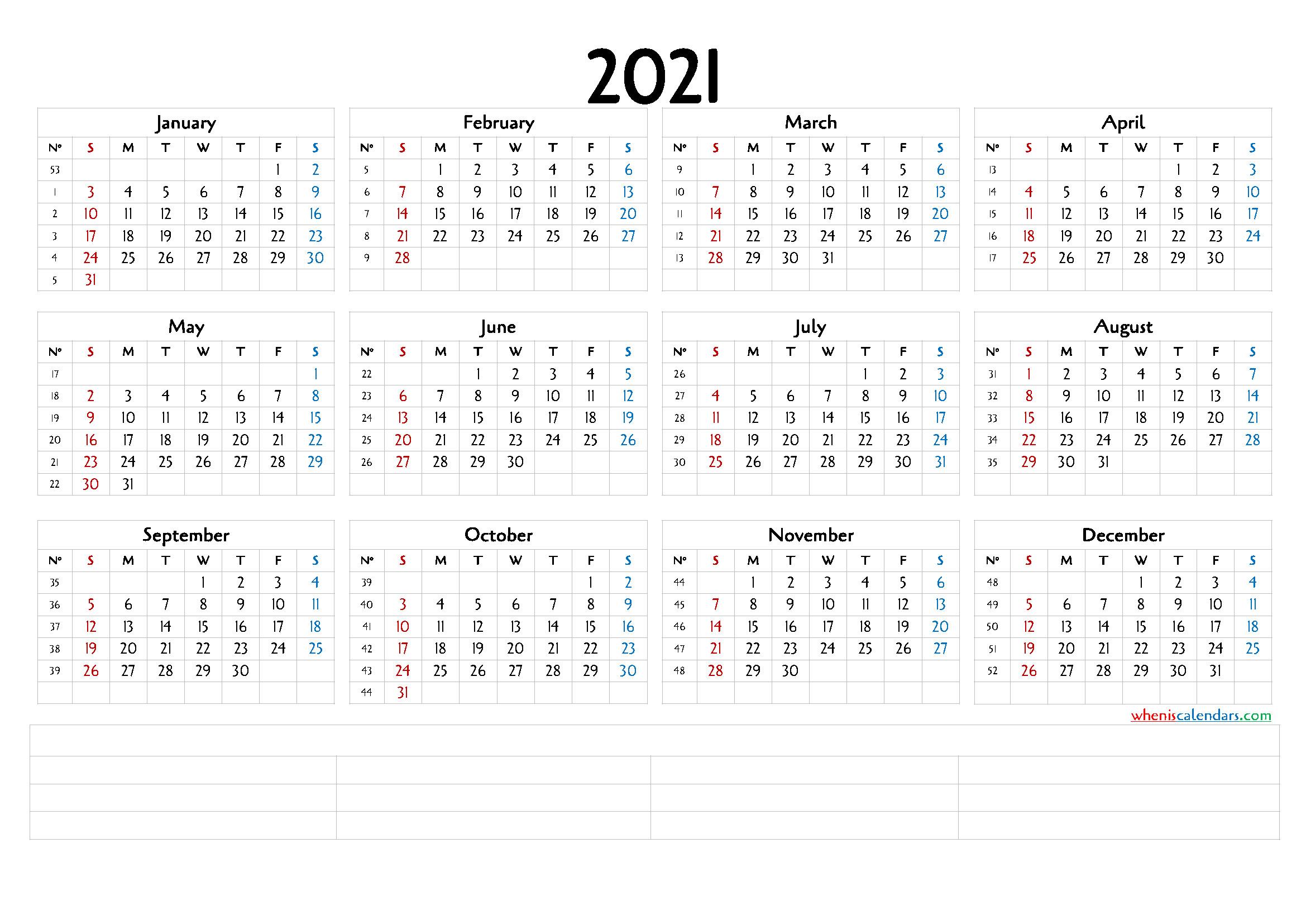 2021 12 Month Calendar   Printable Calendars 2021  Free Printable 12 Month Calendar 2021