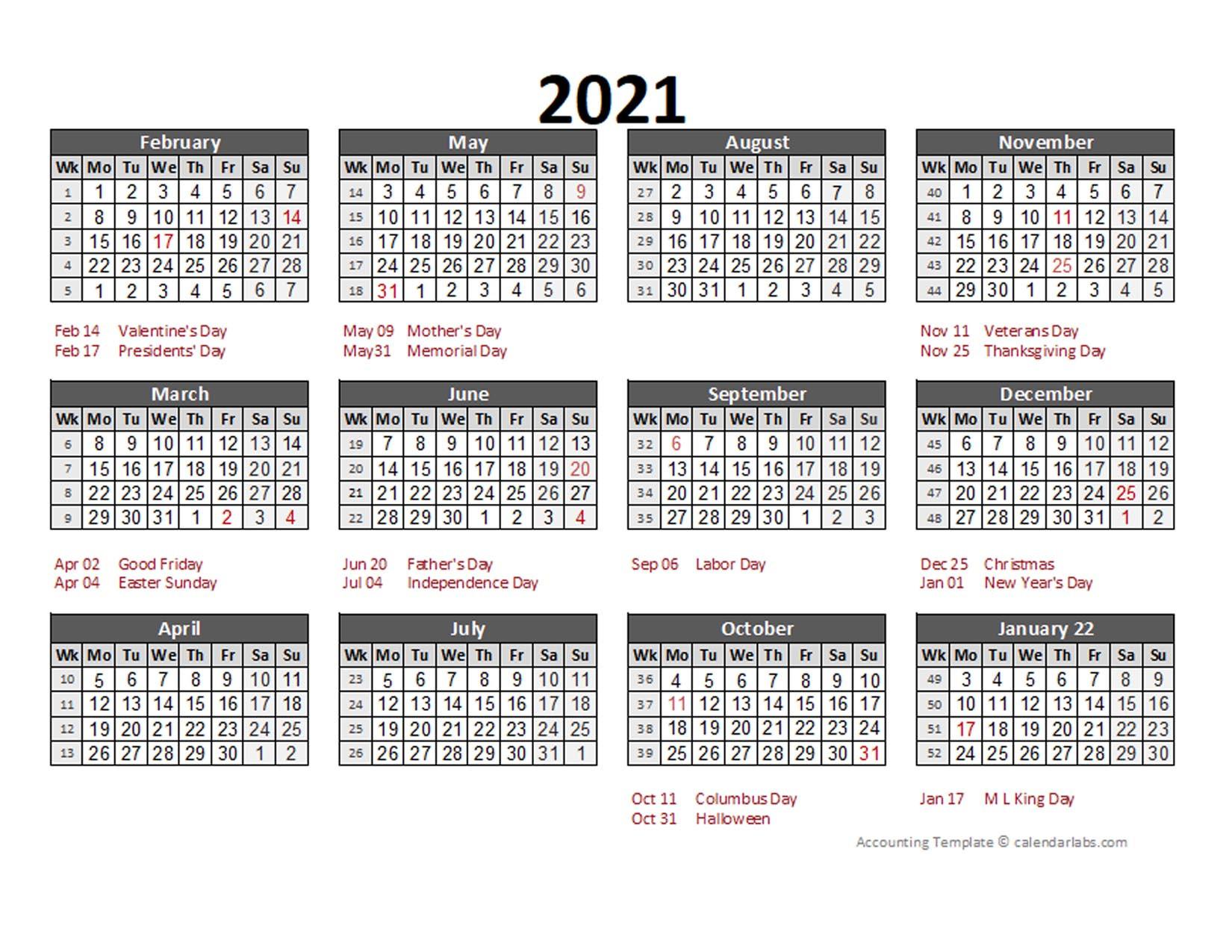 2021 Accounting Calendar 5-4-4 - Free Printable Templates  2021 Fiscal Year Julian Calendar
