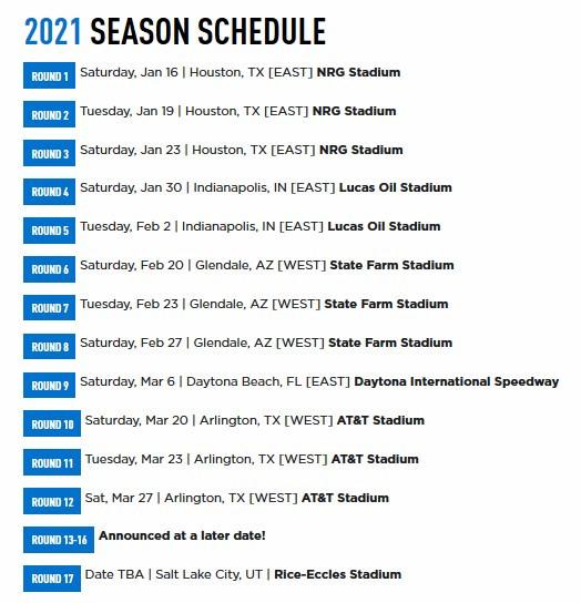 2021 Ama Supercross Schedule  Rut Dates 2021 East Texas