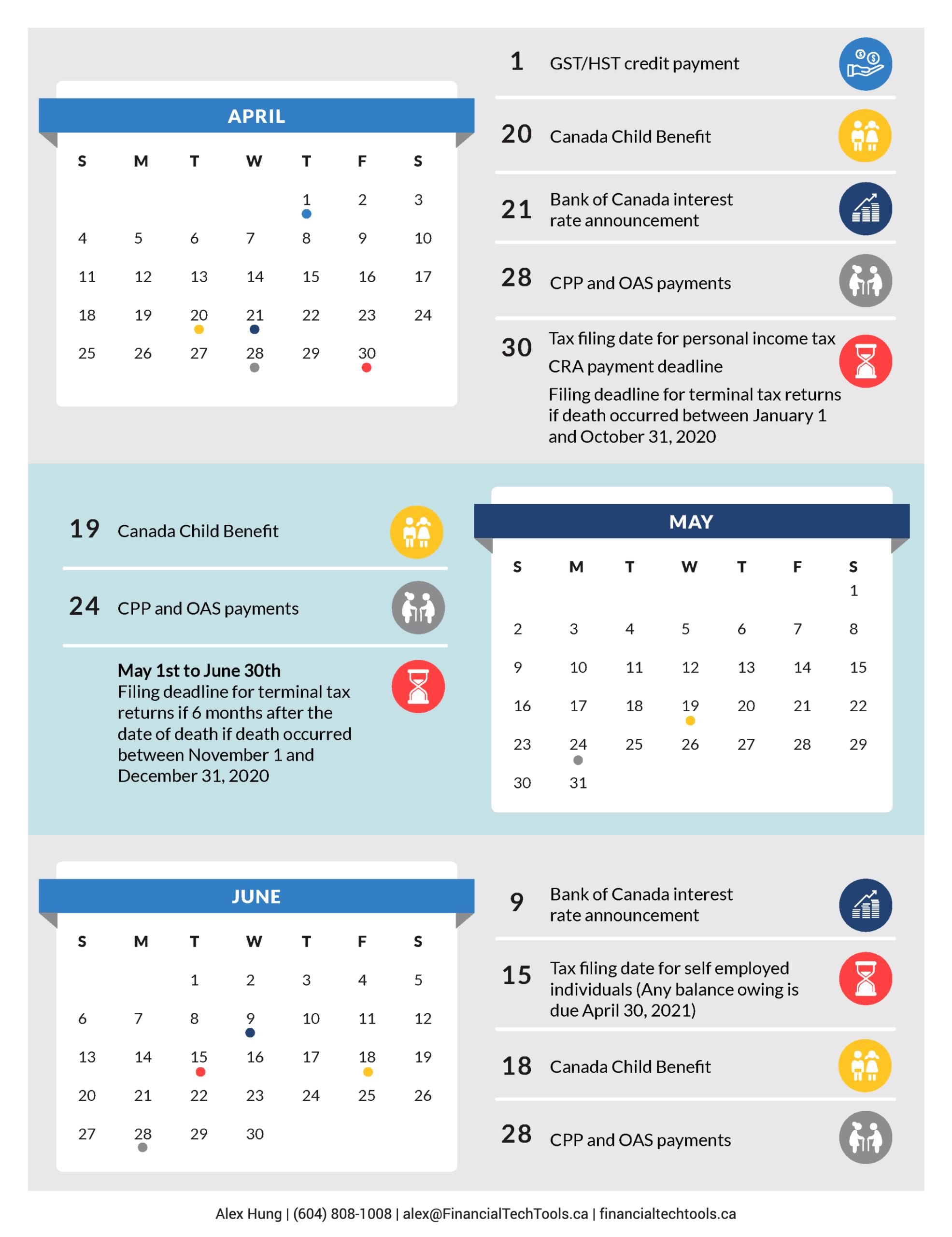 2021 Financial Calendar - Financial Tech Tools  Tax Calendar 2021