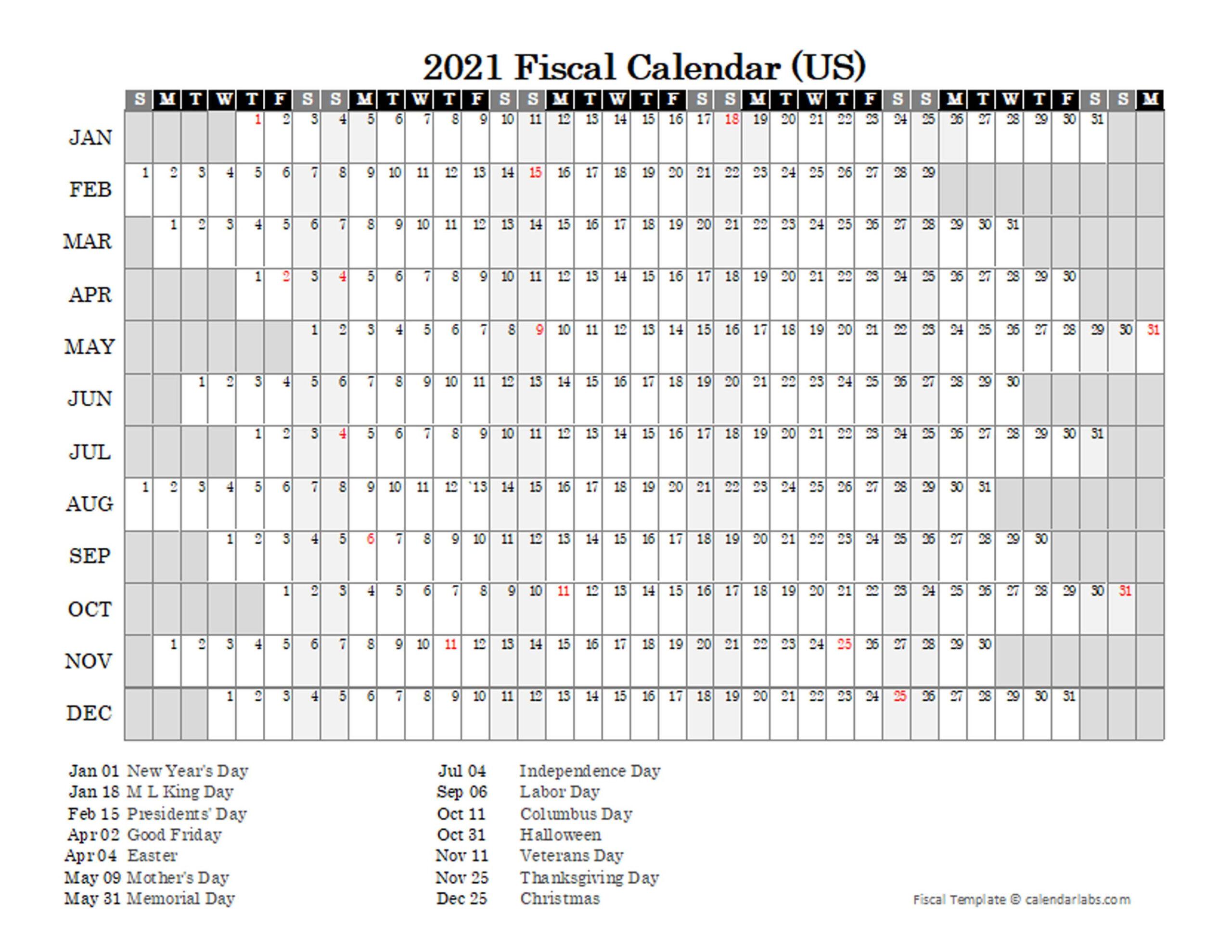 2021 Fiscal Calendar Usa - Free Printable Templates  2021 Fiscal Year Julian Calendar