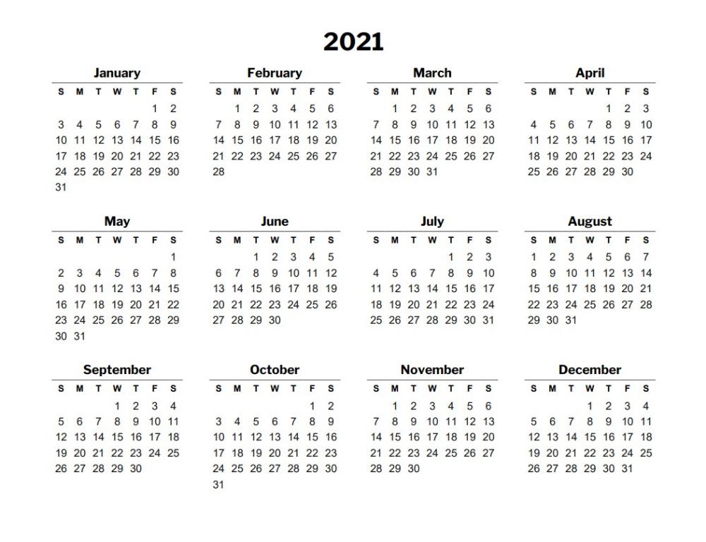 2021 Free Calendar Template Excel In 2020 | Excel Calendar  2021-21 Calendar Template Excel