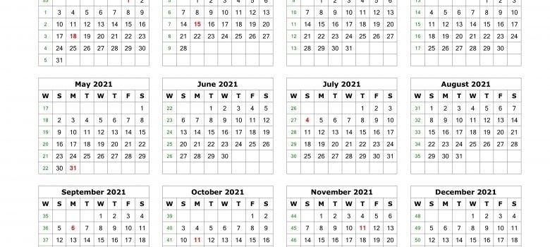 2021 Julian Calendar With Week Numbers | Printable  2021 Printable Julian Date Calendar