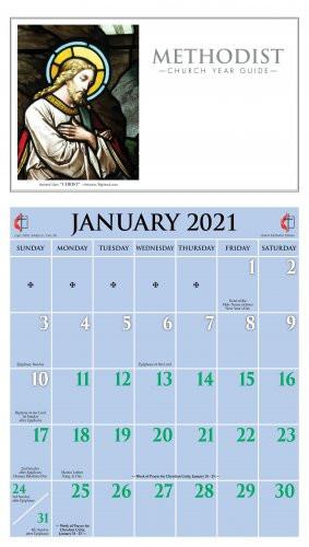 2021 Methodist Calendar - Ashby Publishing  Methodis Lectionary Church Calendar Scripture Readings 2021