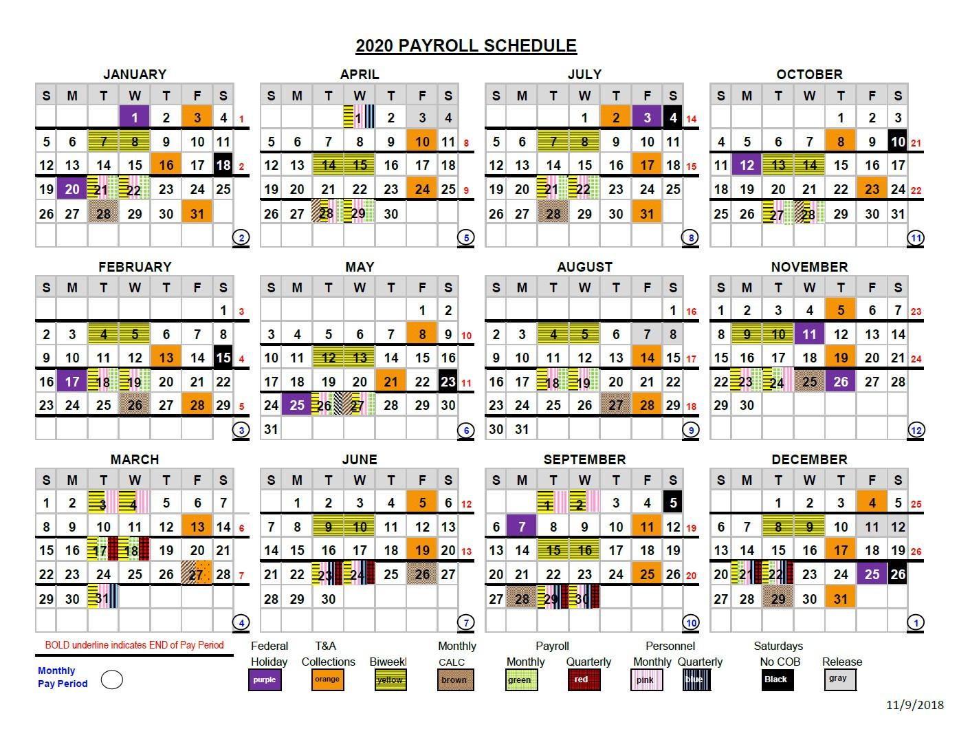 2021 Pay Periods Calendar  Pay Period Calendar 2021