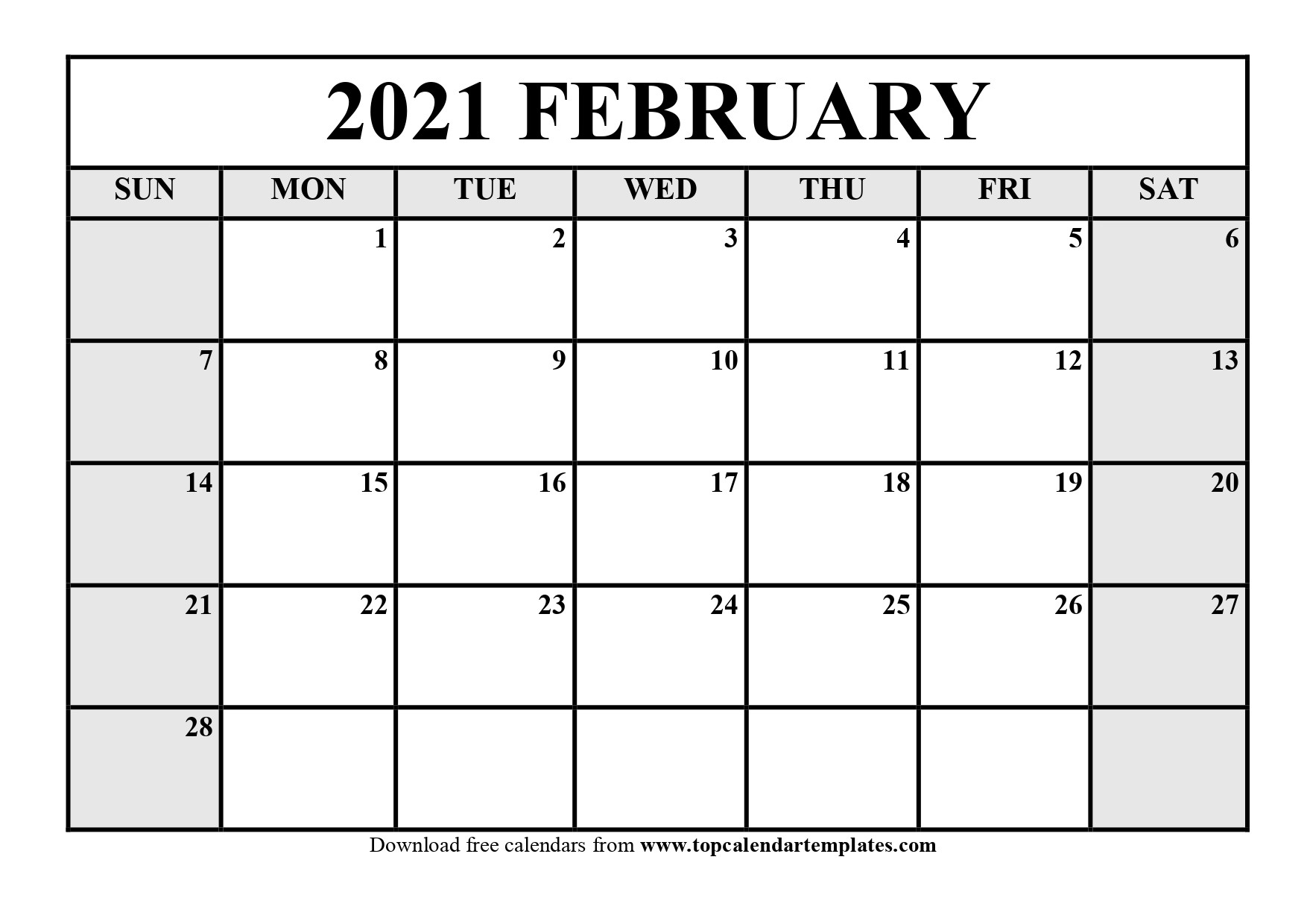 2021 Print Free Calendars Without Downloading | Calendar  2021 2021 Monthly Calendar Printable Free