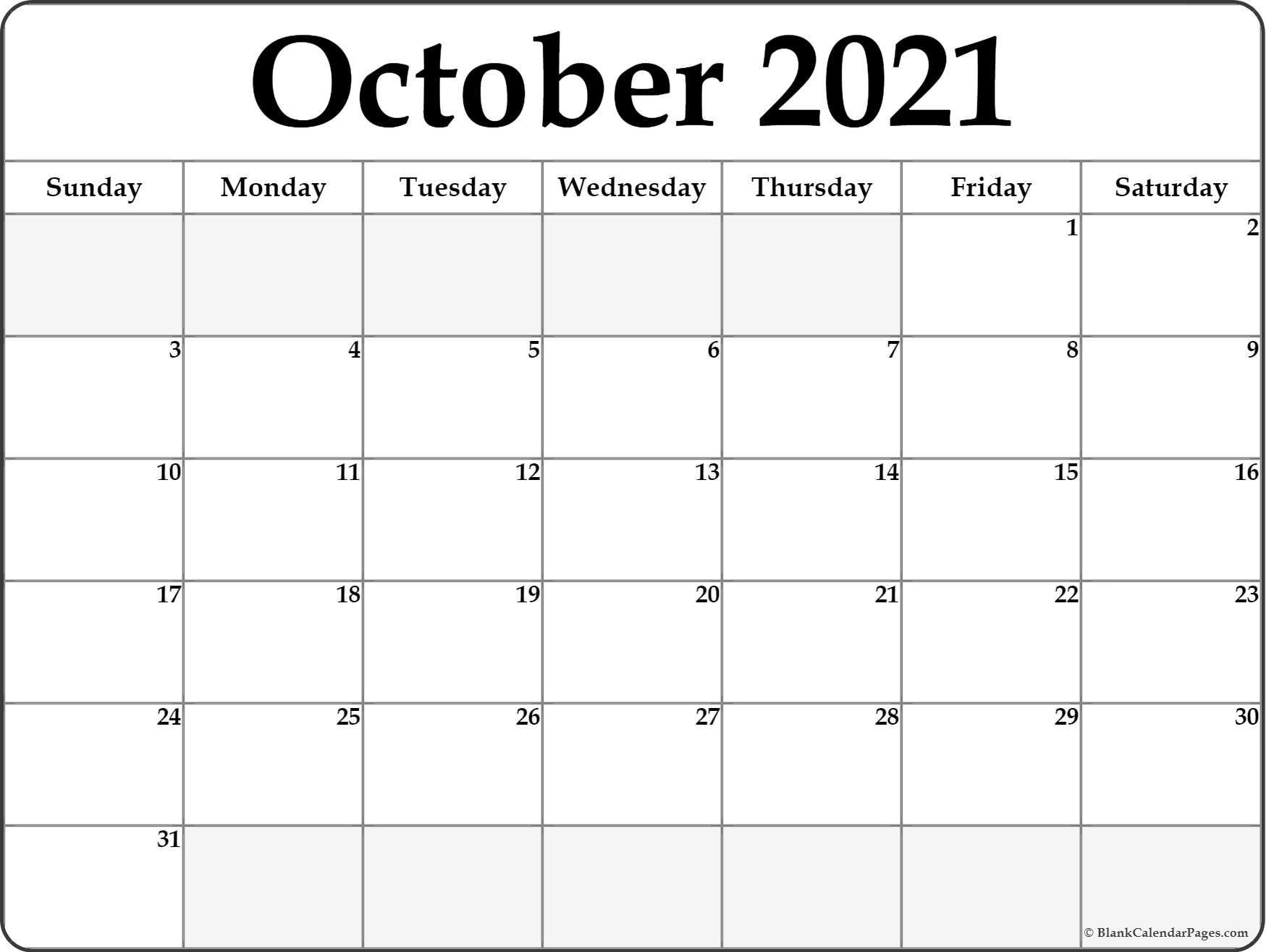 2021 Printable Calendar From October Thru December  November 2021 Fill In Calendar