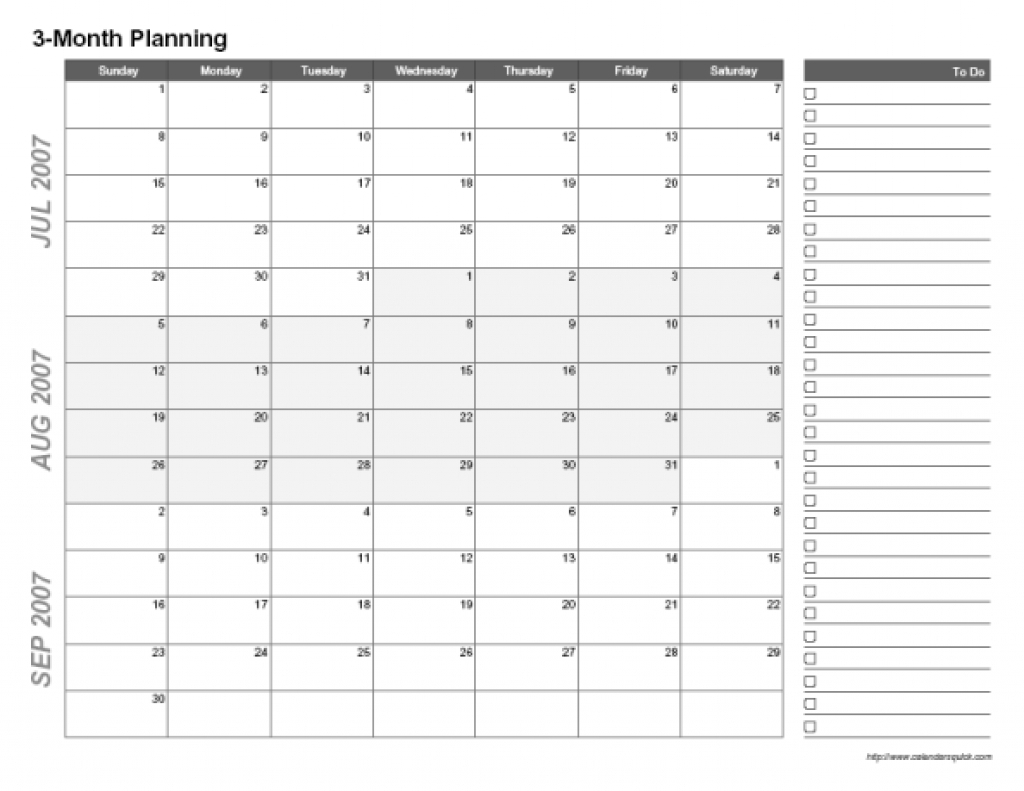 3 Month Blank Calendar Template   Printable Calendar  When Would The Next Dpo Shot Be Due From 11/03/20
