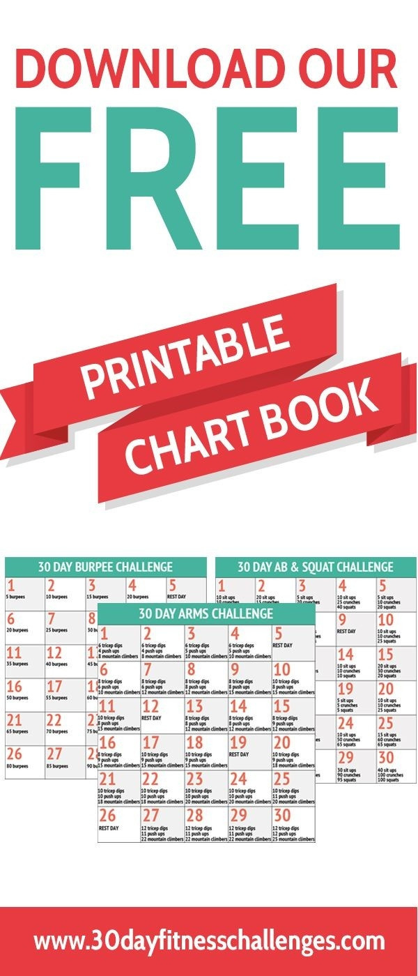 30 Exercise Chart - Template Calendar Design  30 Day Exercise Challenge Printable