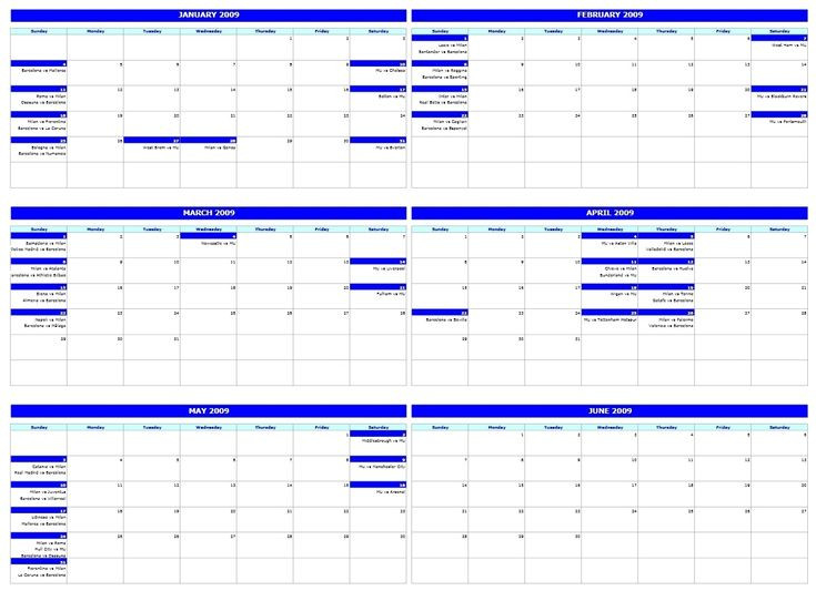 4 Month Calendar Template Excel   Excel Calendar Template  Four Month Calendar Template