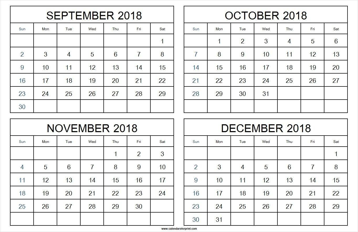 4 Month Calendar Template In 2020 | Calendar Template  Four Month Calendar Template