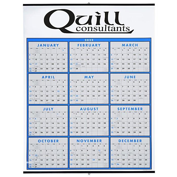 4Imprint.ca: Span-A-Year Wall Calendar C115374  Yearly Calendar
