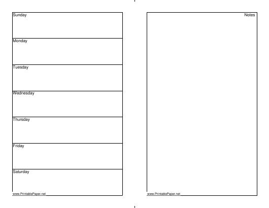 7 Day Weekly Planner Template Download Printable Pdf  7 Day Printable Weekly Calanders