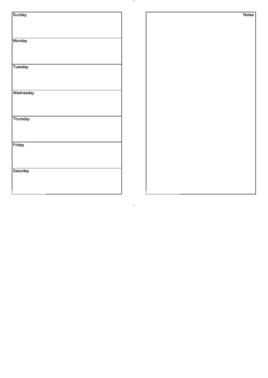 7 Day Weekly Planner Template Printable Pdf Download  7 Day Printable Weekly Calanders