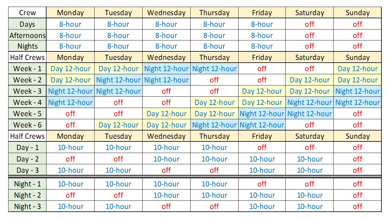 8 Hour Shift Schedule Template - Printable Receipt Template  12 Hour Shift Calendar
