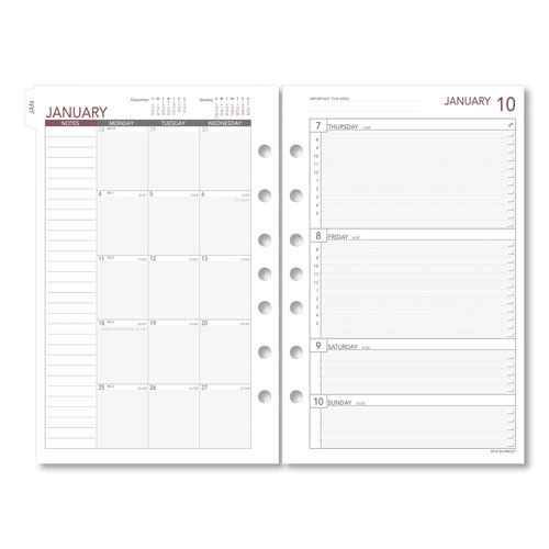 Acco Day Runner Weekly Planning Pages Refill | 8.5 X 5.5  Whats The Julian Date For 8/5/2021