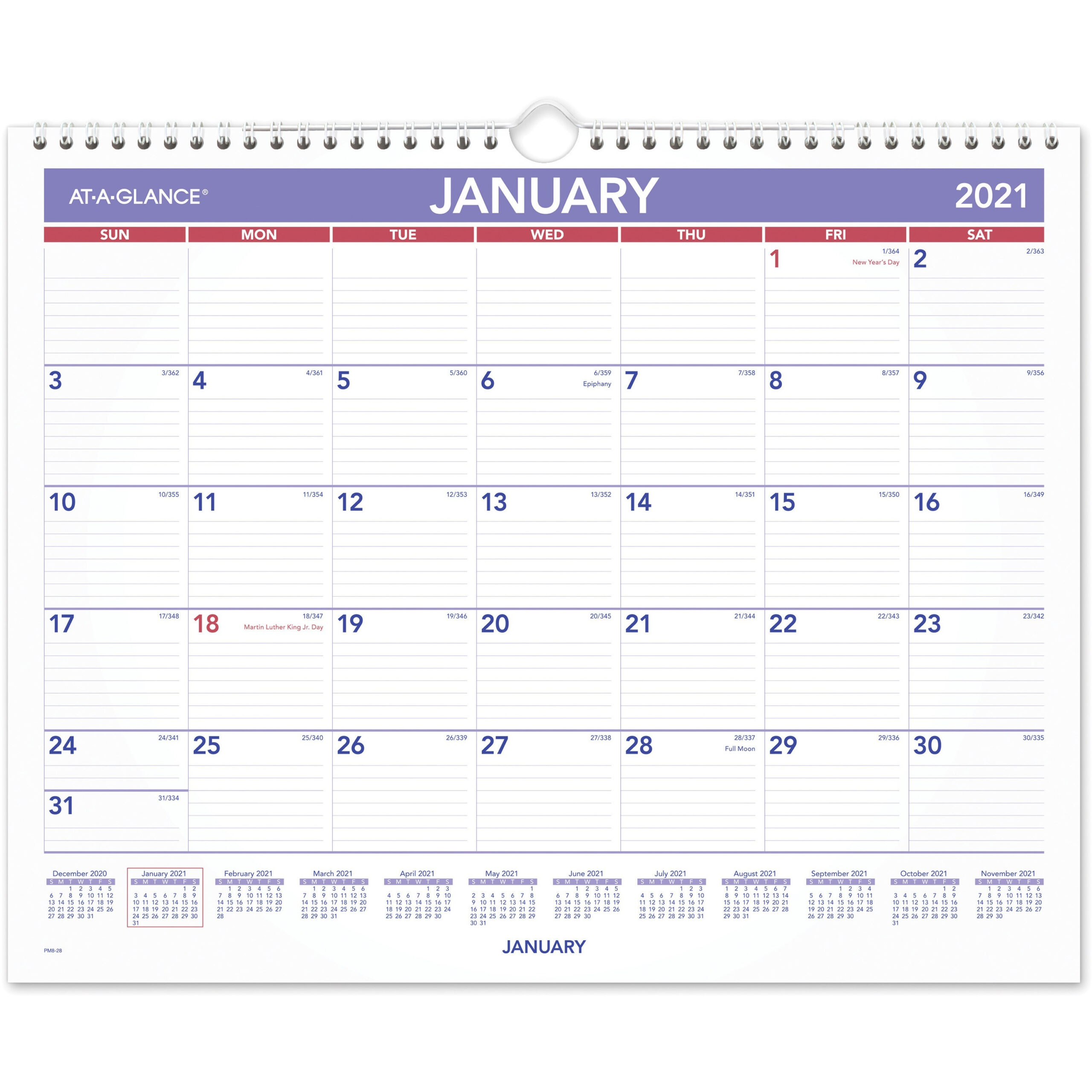 At-A-Glance Monthly Wall Calendar - Julian Dates - Monthly  Military Julian Date