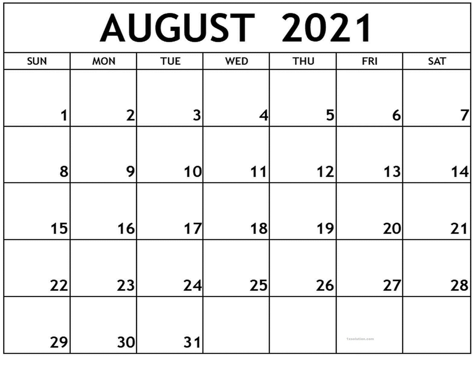 August 2021 Calendar Printable Schedule Excelsheet   Calendar  August 2021 To December 2021 Calender