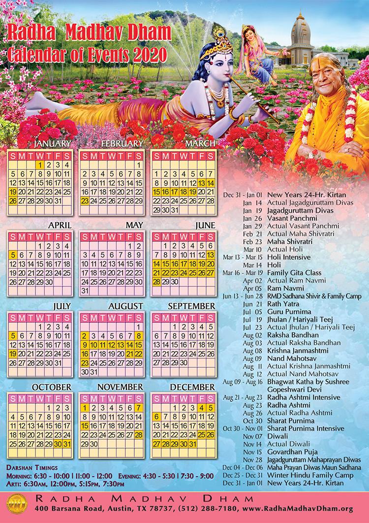 Austin Hindu Temple Calendar 2021 | Printable March  Rut Dates 2021 East Texas