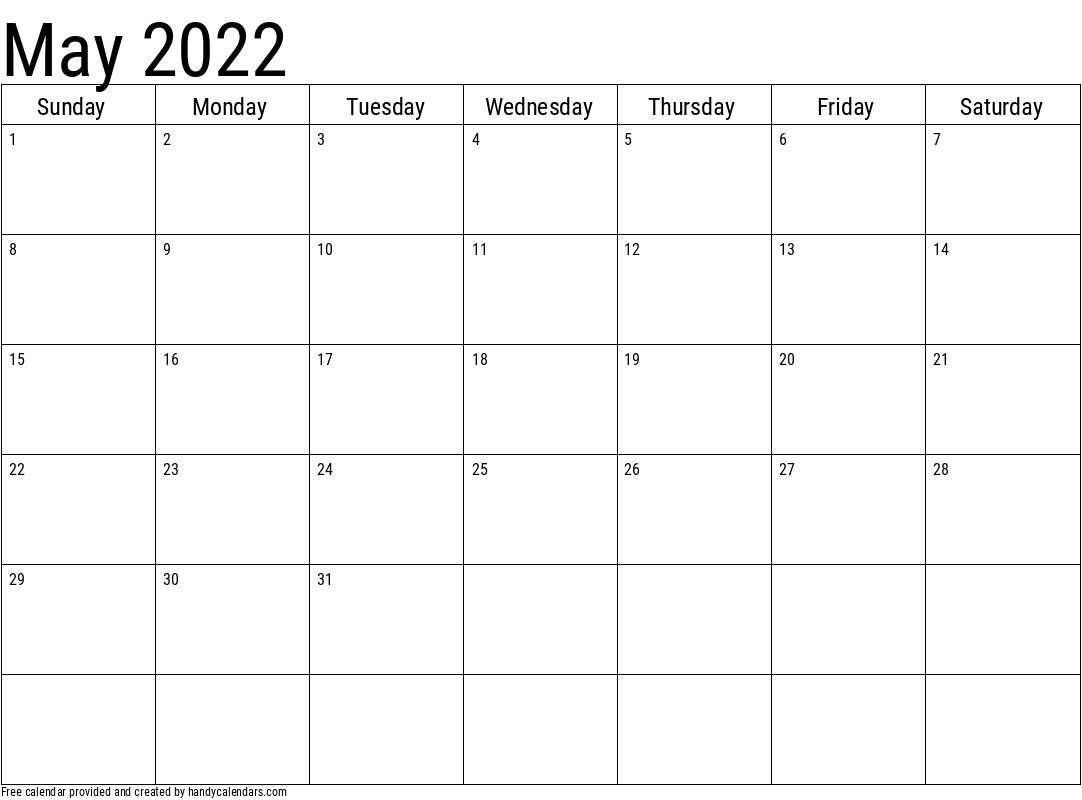 Basic 2021 Calendar Templates - Handy Calendars  Plain Monthly Planner Template Portrait 2021