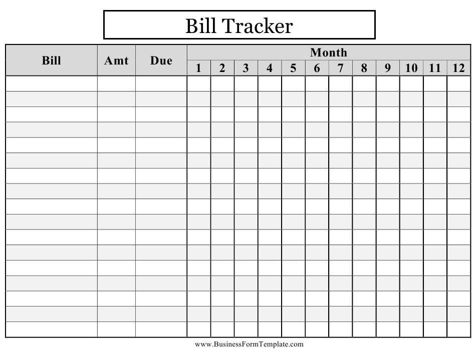Bill Tracker Spreadsheet Template Download Printable Pdf  Bill Worksheet Pdf