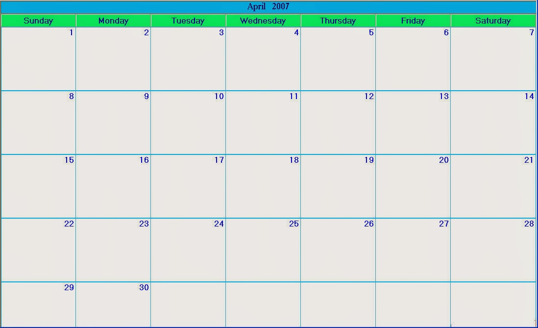 Blank Calendar 2013 - 2014 | 2016 Blank Calendar  Free Large Print Monthly Calendar