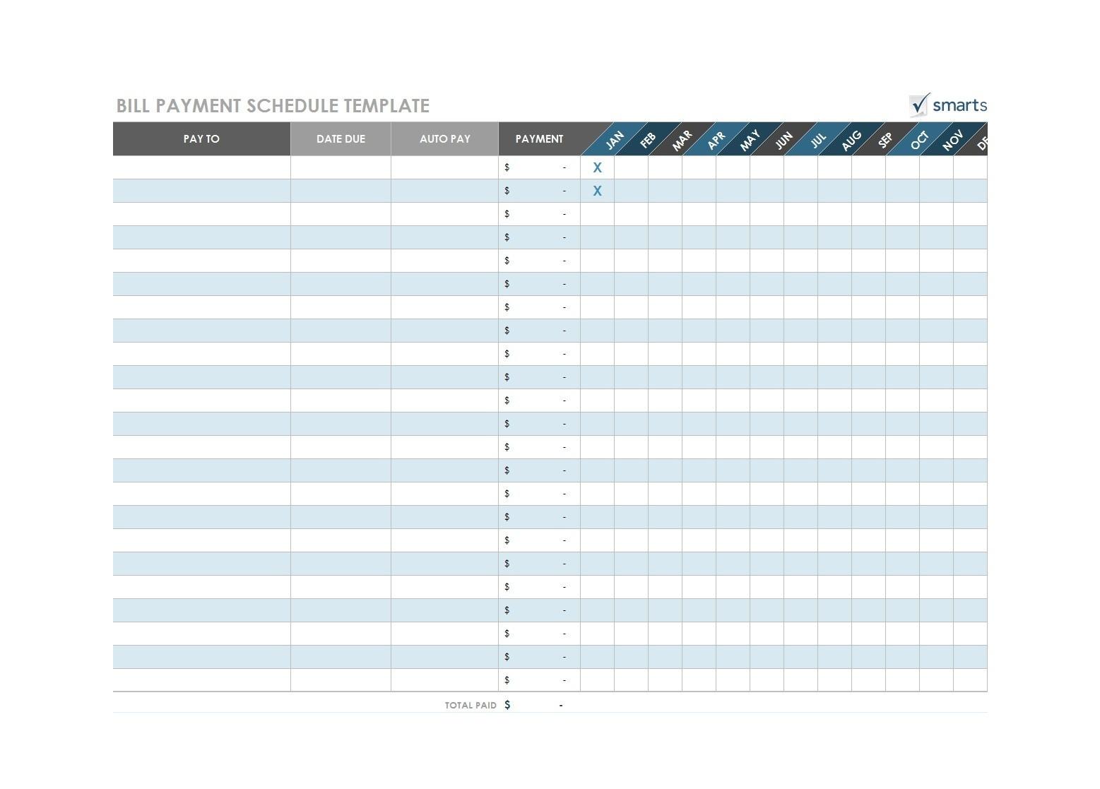 Blank Calendar To List Bills Due | Calendar Template Printable  Pay Bills Calendar