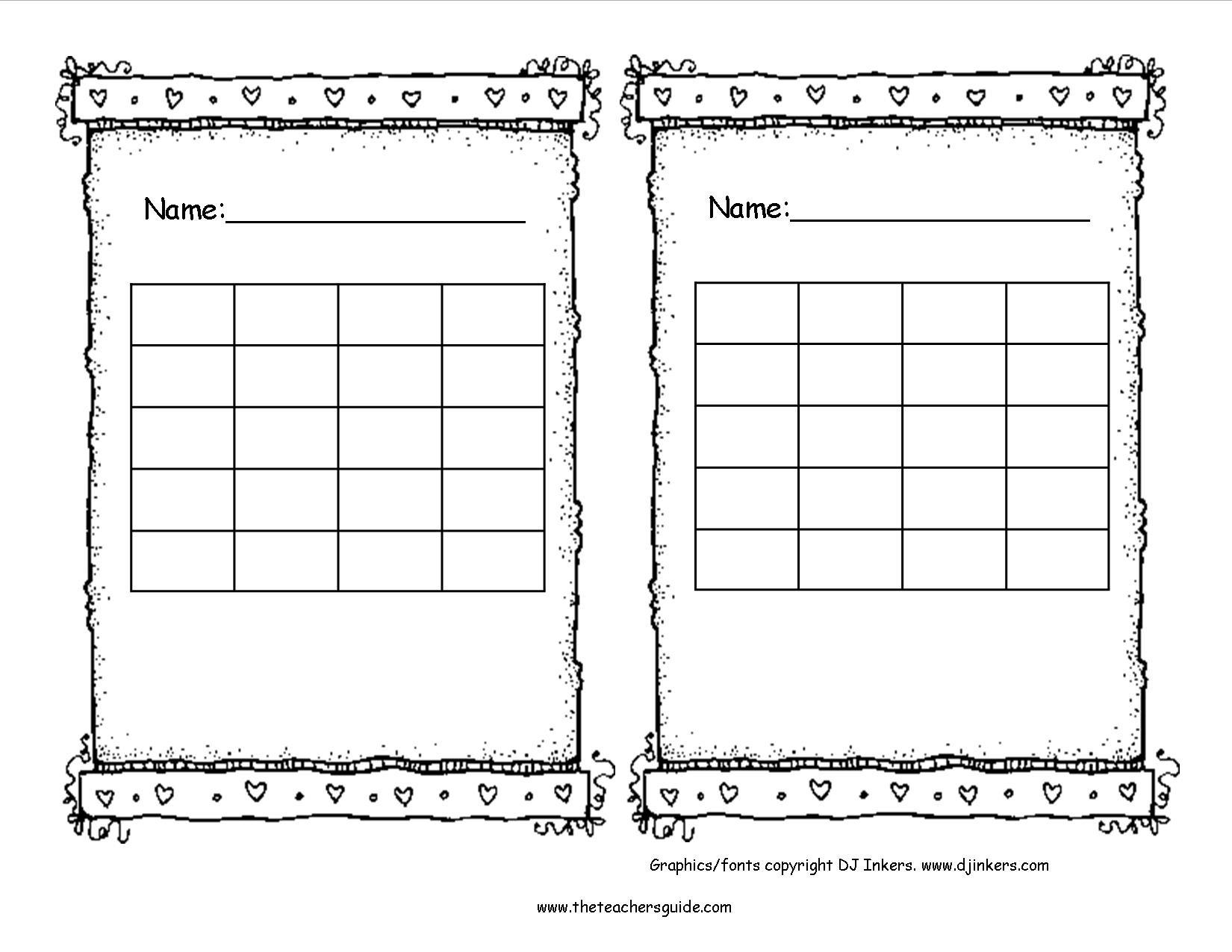 Blank Sticker Chart - Tunu.redmini.co With Regard To Blank  Blank Reward Charts