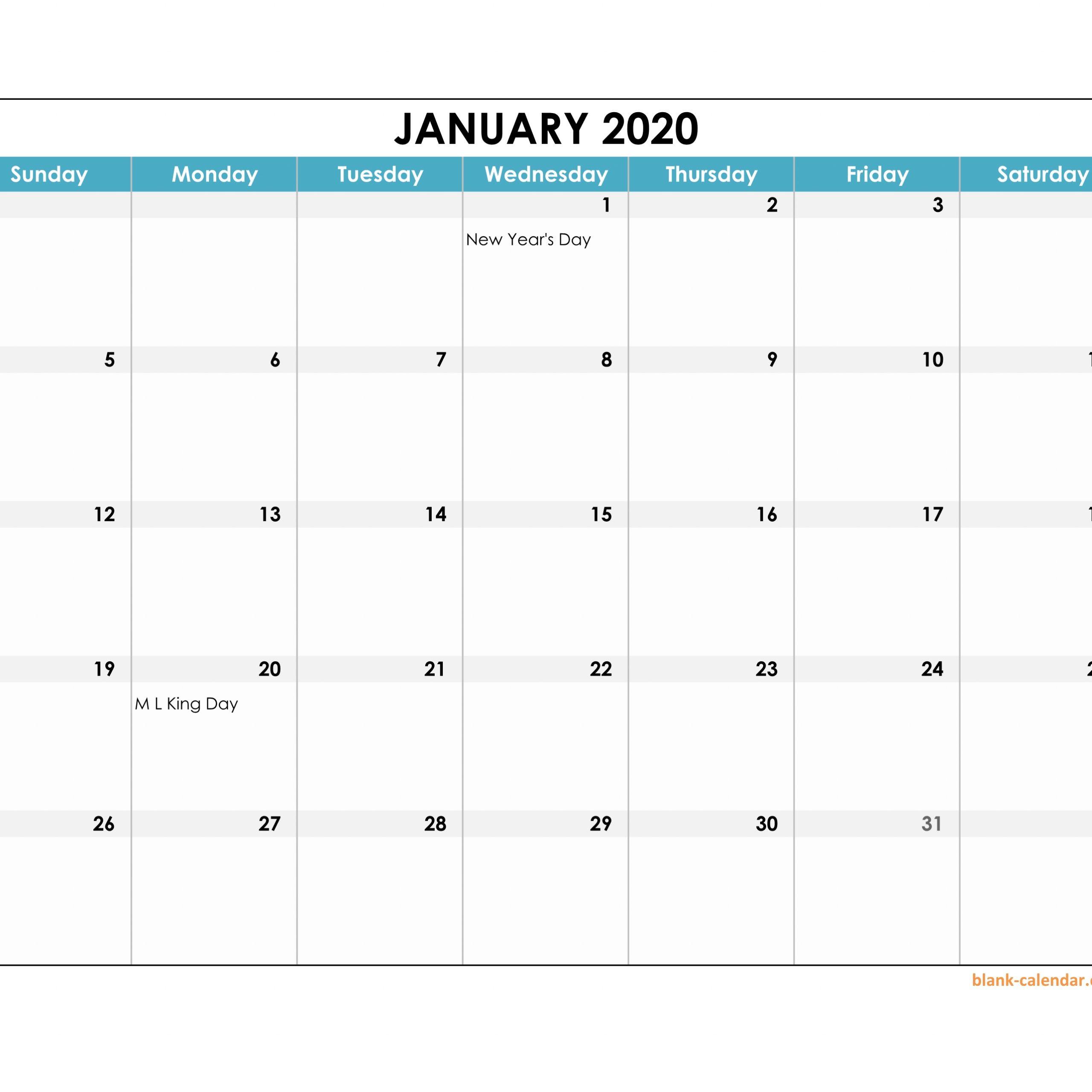 Calendar 2020 Excel Editable | Calendar Printables Free  Editable Monthly Calendar Printable