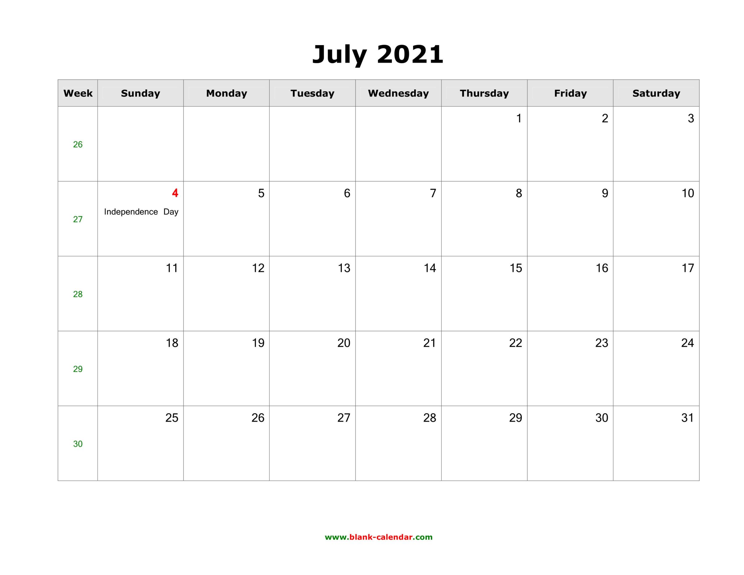 Calendar 2021 July   Printable Calendars 2021  Depoprecara Calendar  July 2021
