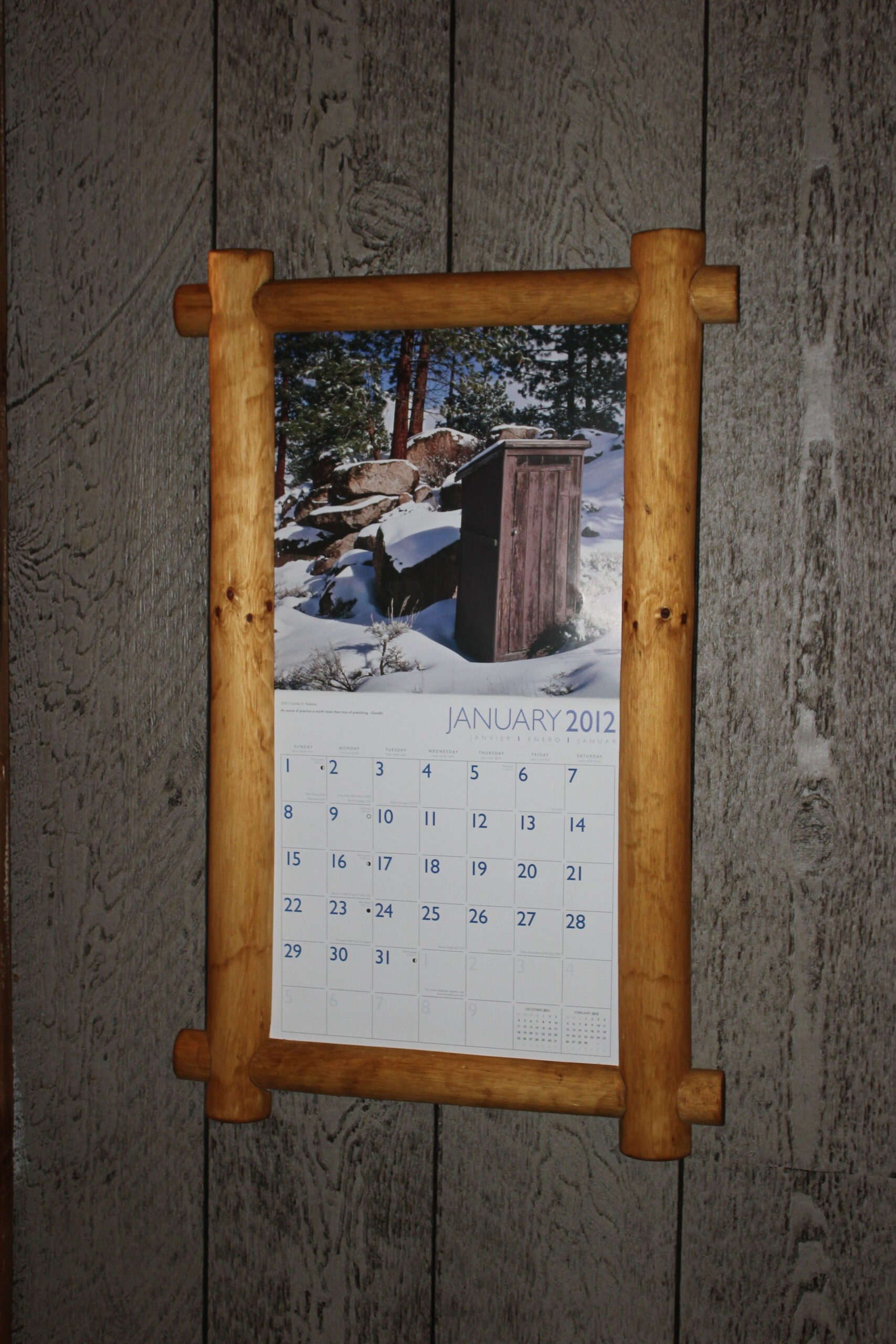 Calendar Holder My Husband Made | Calendar Holder  Calendar Frames And Holders