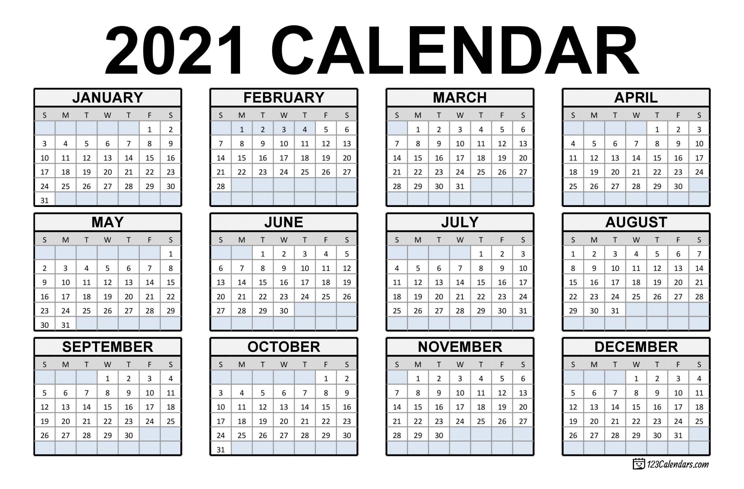 Calendar Of Weekends Only 2021 | Month Calendar Printable  Easy To Print 2021 Calendar