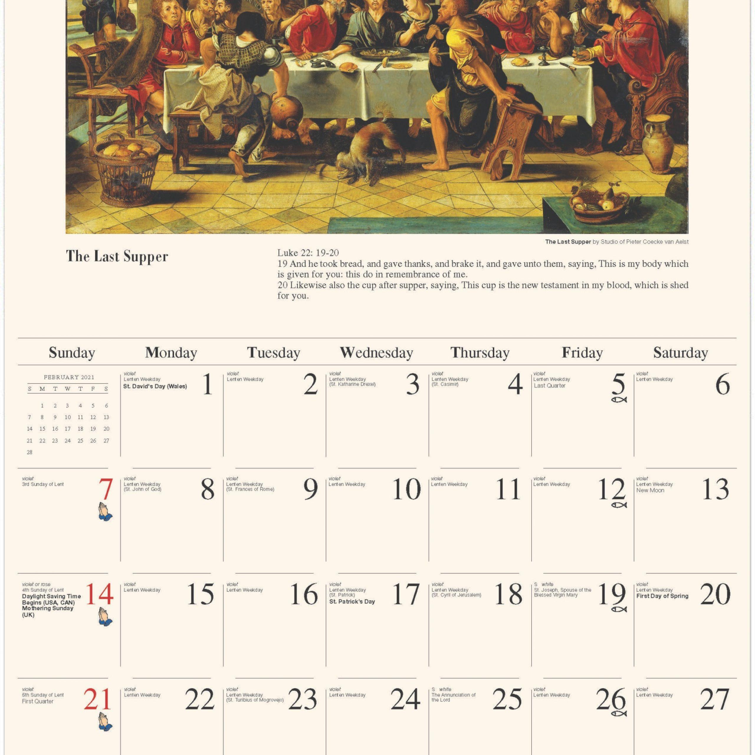 Catholic Calendar 2021 Canada | Free Printable Calendar  Printabel Lectionary Clalendar For 2021 Umc