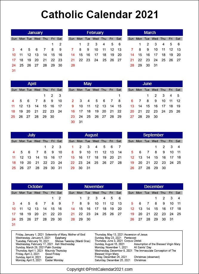 Catholic Liturgical Calendar 2021  Methodis Lectionary Church Calendar Scripture Readings 2021