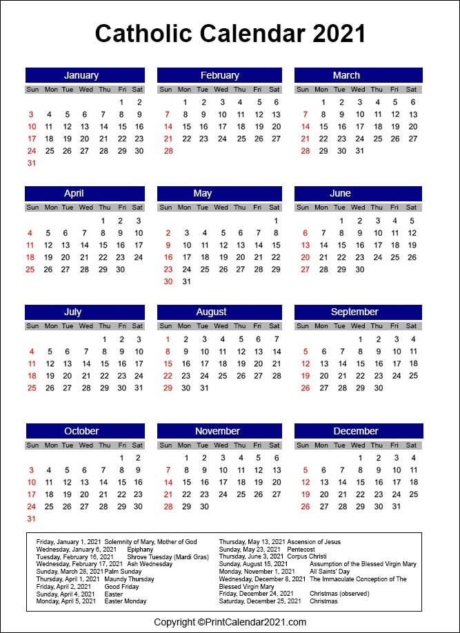 Catholic Liturgical Calendar 2021  Methodist Lectionary For 2021