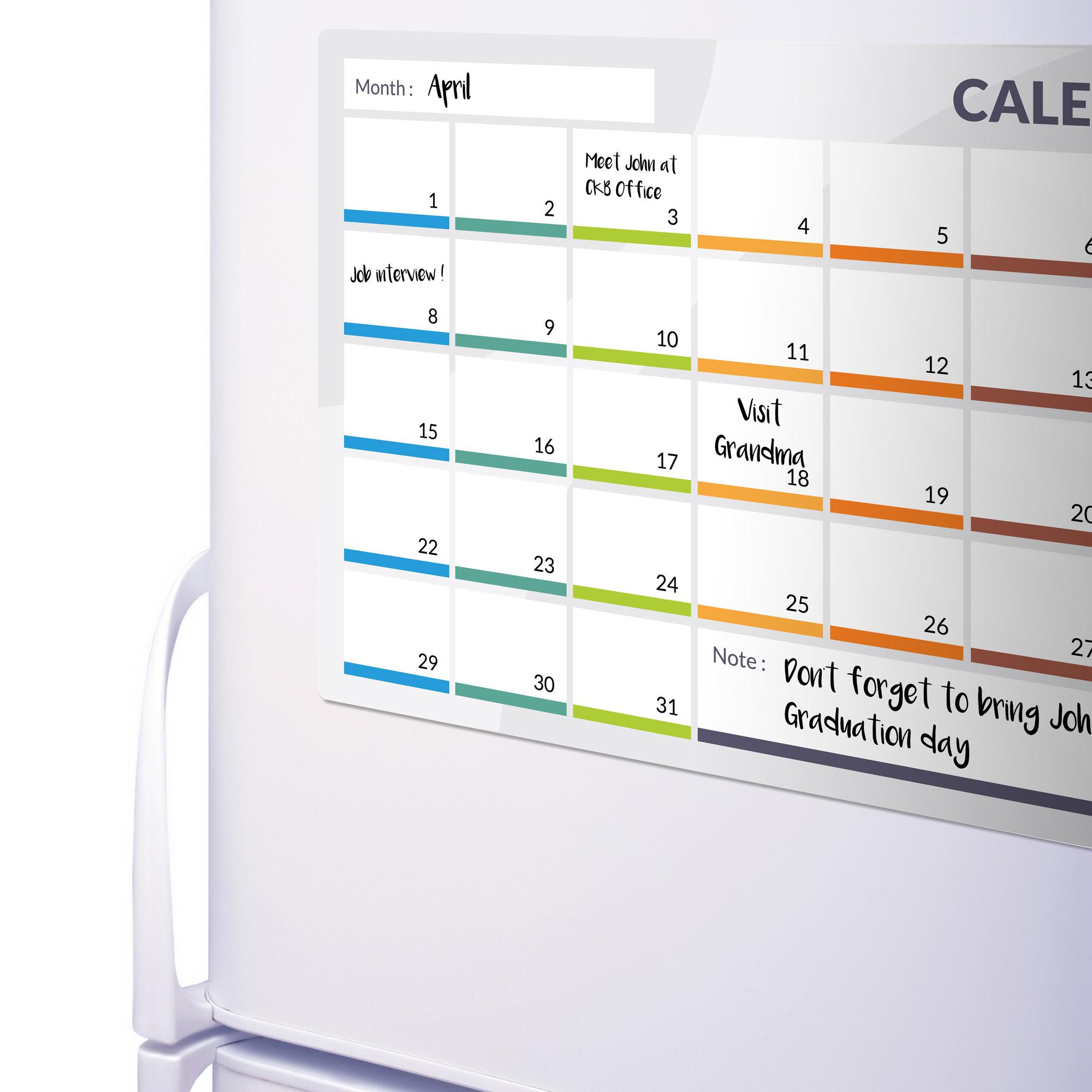 Ckb Ltd Calendar Magnetic Fridge Board | 31 Day Month Planner  31 Day Monthly Schedule