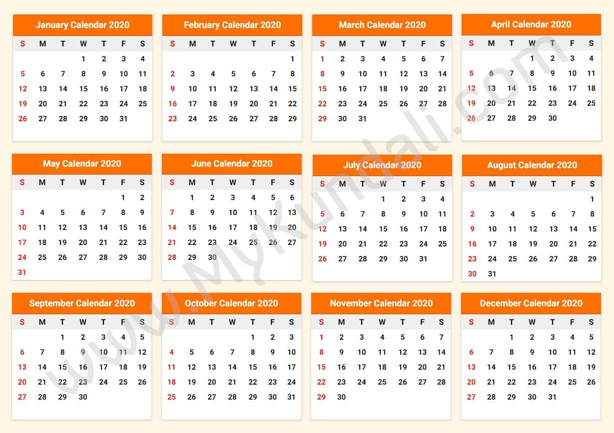 Collect Print Free Calendars Without Downloading/2020  Free Printable Calendar Without Download