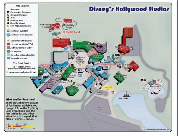 Complete Guide To Disney'S Hollywood Studios  Disney World Attractions List Pdf