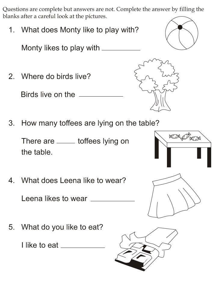 Complete The Answerfilling The Blanks | Download Free  Colour Filling Page For Grade R